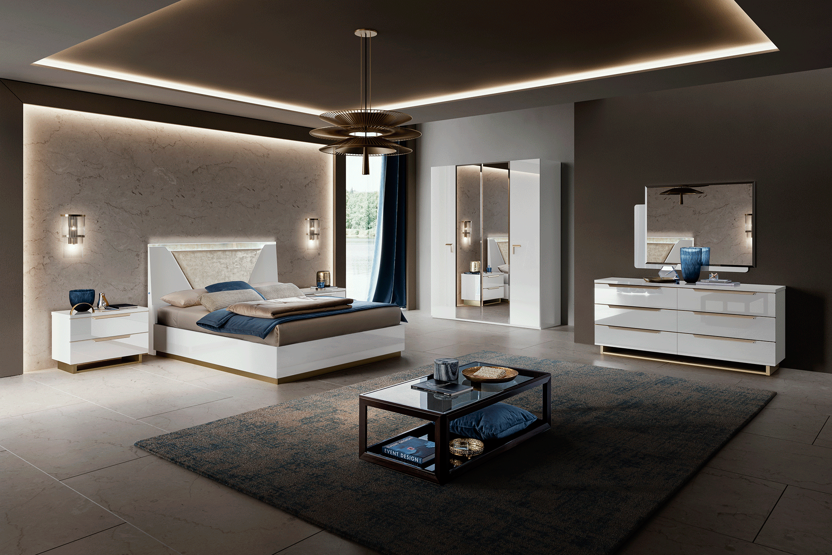 Smart Bedroom White Camel Modern Collection Italy Brands