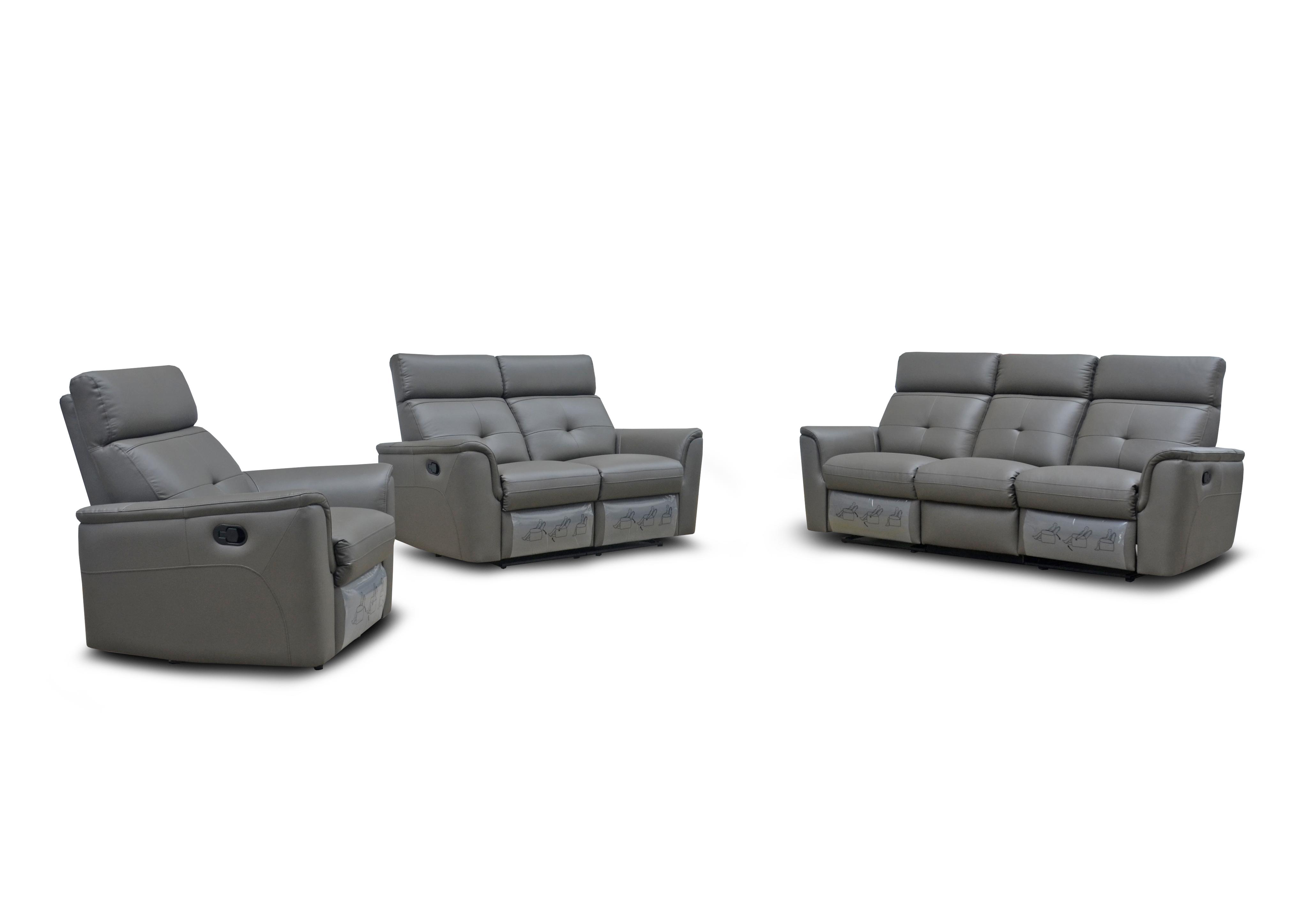 8501 Dark Grey W Manual Recliner Reclining And Sliding Seats Sets Living Room Furniture